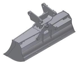 Bagger-Grabenlöffel  100  MS01  mieten leihen