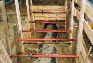 Kanalstrebe 0,8 m mieten leihen