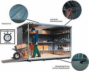 Materialcontainer 3 x 2 m  mieten leihen