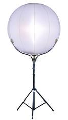 Leuchtballon für Baustellenbeleuchtung mieten leihen