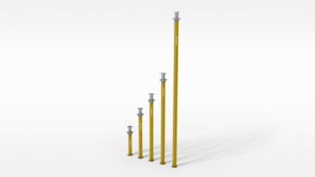 Alu - Deckenstützen  MP 625 , ca. 4,30 bis 6,25 m Peri Multiprop mieten leihen