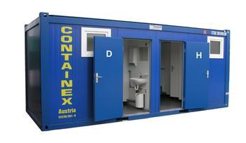WC Container Damen-Herren mieten leihen
