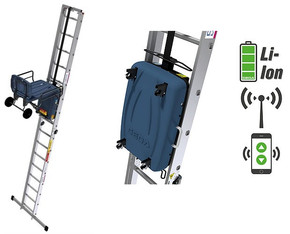 AKKU - Leiterlift / Aufzug / Bauauzug mit Funksteuerung mieten leihen