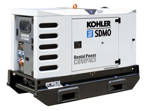 Stromerzeuger/ Stromaggregat / Generator 30 kVA auf Straßenfahrwerk 80 km/h mieten leihen